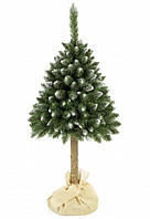 Елка искусственная заснеженная сосна 1.8 м на стволе новогодняя рождественская ель, фото 1