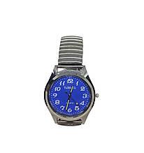 Часы мужские кварцевые YiWeiSi на браслете резинка синий