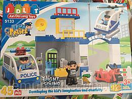 Конструктор JDLT 5133 Полицейский участок - аналог Lego Duplo, 45 дет