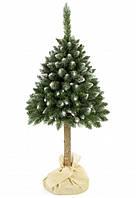 Ялинка штучна засніжена сосна 1.8 м на стовбурі новорічна різдвяна ялина