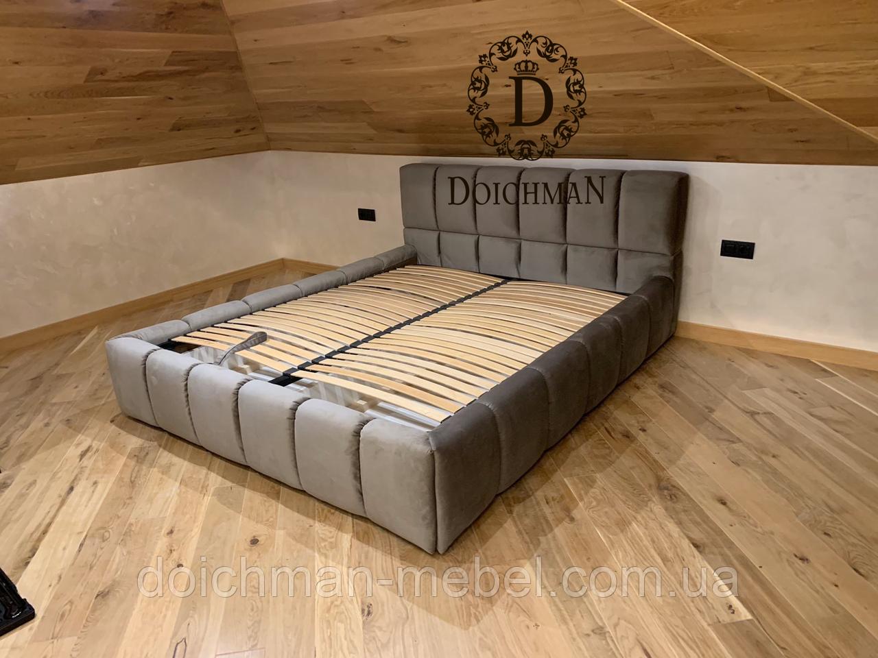 Дутая кровать, двуспальная кровать с мягким изголовьем