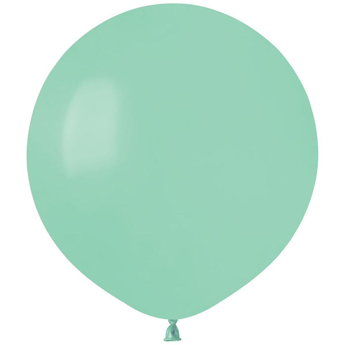 """Латексные шары круглые без рисунка И 18""""/77 пастель мятный"""