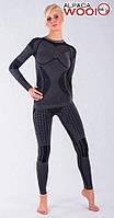 Комплект женского термобелья с шерстью альпаки HASTER ALPACA WOOL зональное бесшовное шерстяное, фото 1