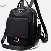 Женская сумка ранец черный тайный карман рюкзак водонепроницаемая ткань161B