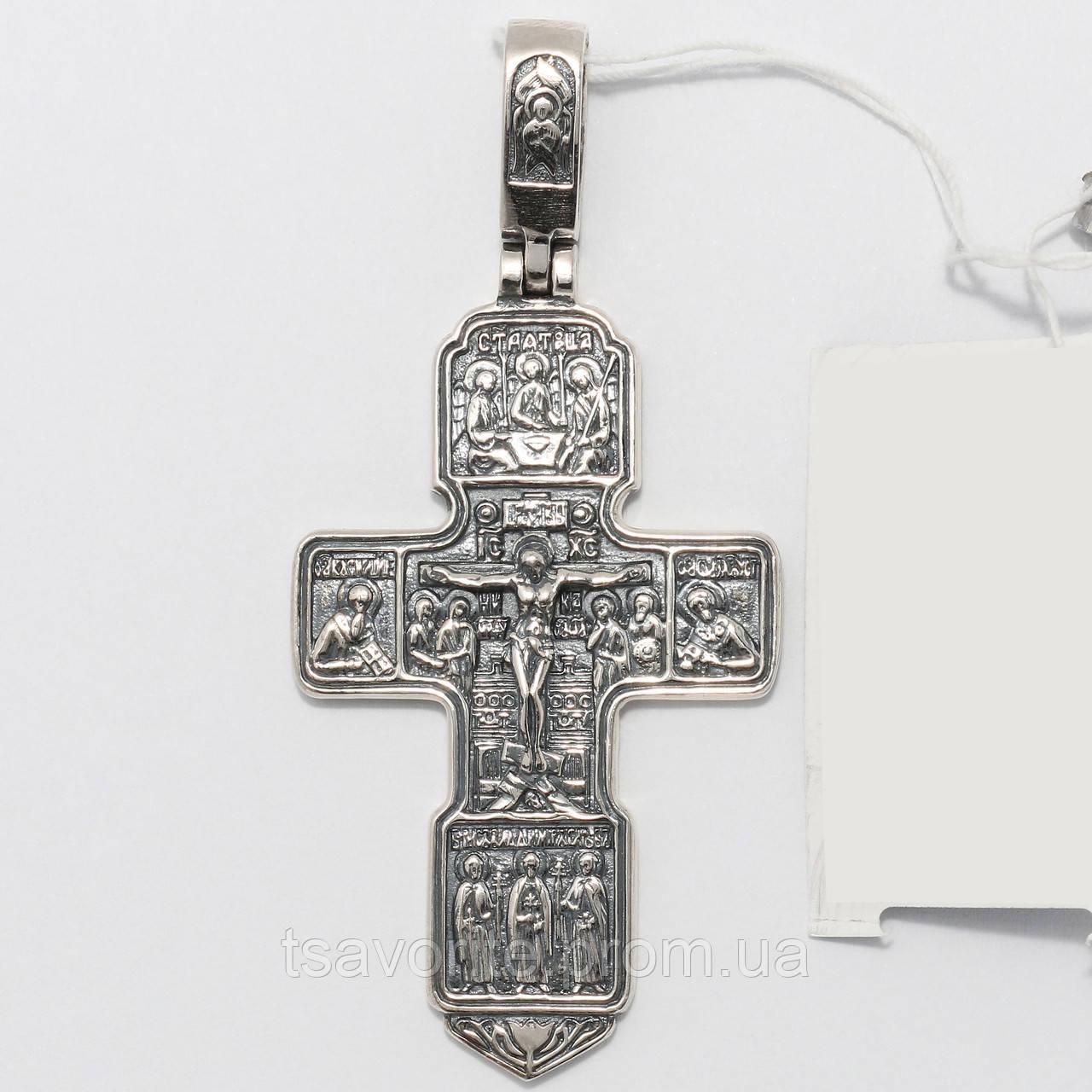 Серебряный крестик 3100337