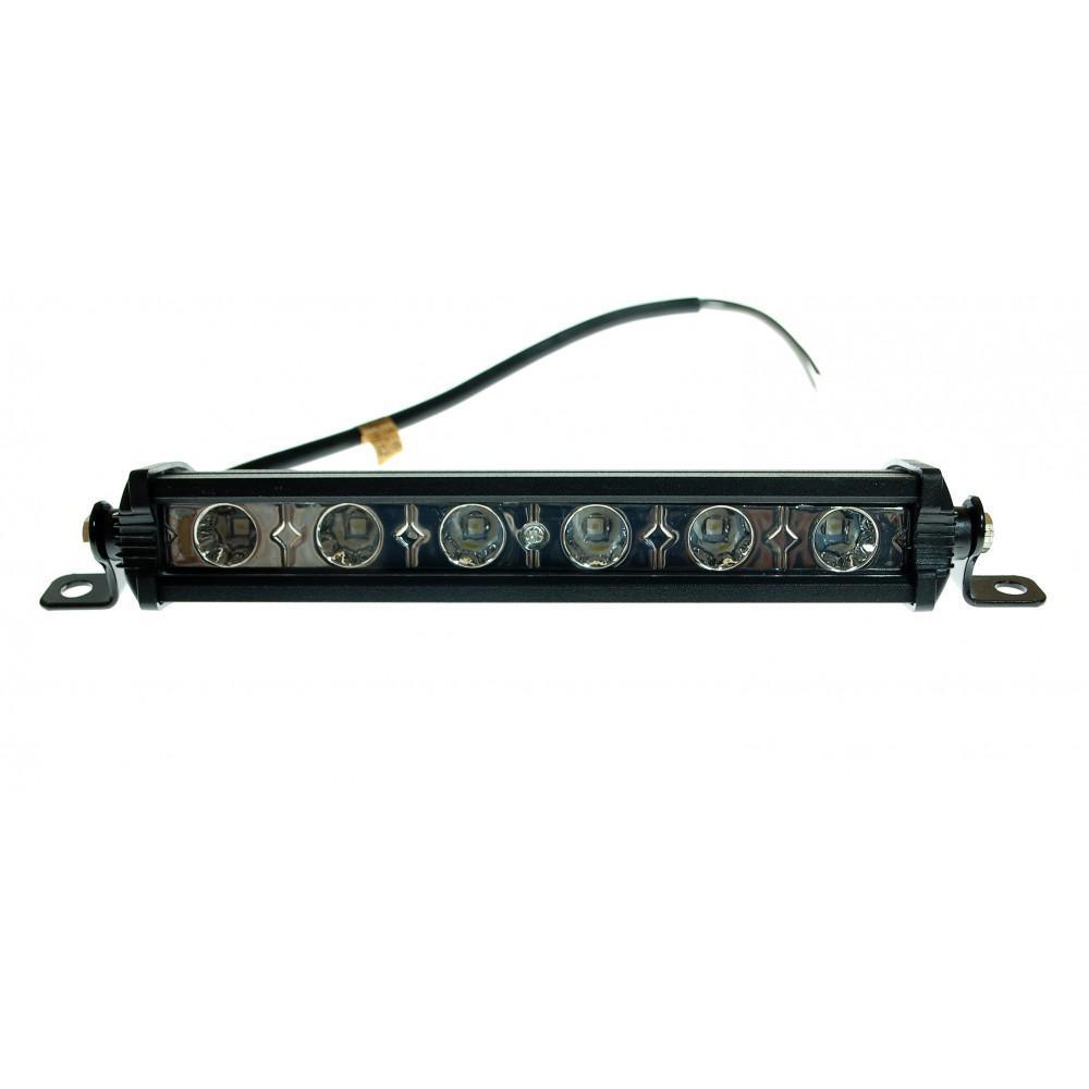 Светодиодная фара дальнего света AllLight E-18W однорядная 6chip 3030 9-30V