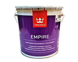 Емаль для меблів Tikkurila Empire напівматова 2.7 л