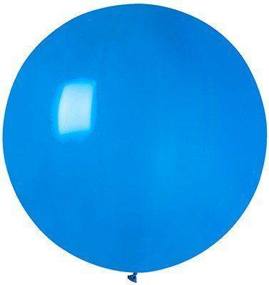 """Латексные шары круглые без рисунка И 18""""/10 пастель синий"""