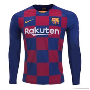 Футбольная форма Барселона (Barcelona) сезон 19/20 с длинным рукавом