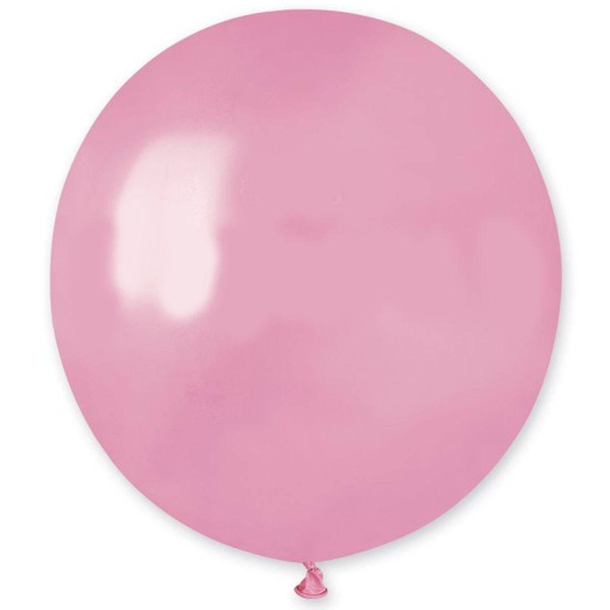 """Латексные шары круглые без рисунка И 18""""/57 пастель ярко-розовый"""