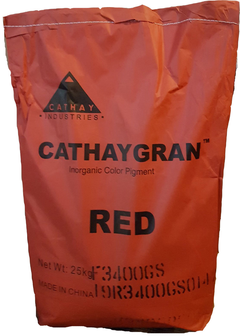 Пігмент вишневий гранульований CATHAY GRAN F 3400 G залізоокисний Cathay Pigments Group сухий Китаю 25 кг