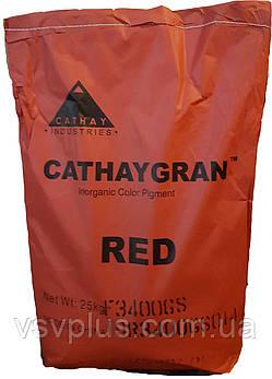 Пигмент вишневый гранулированный CATHAY GRAN F 3400 G железоокисный Cathay Pigments Group сухой Китай 25 кг, фото 2