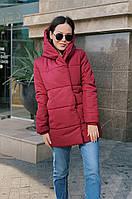 Женская зимняя удлинённая куртка зефирка синтепон олива, черный, мята, розовый бордо серый беж 42 44 46