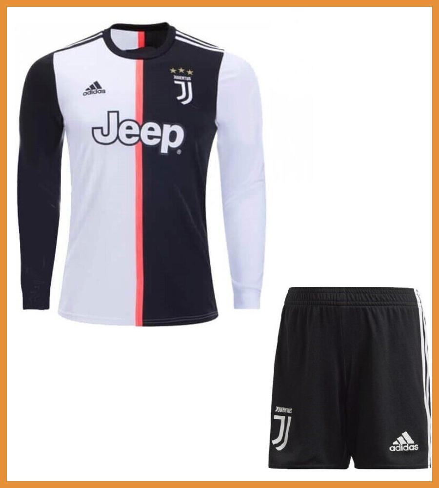 Футбольная форма Ювентус (Juventus) 19/20 домашняя длинный рукав