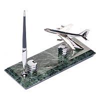 Подставка визитница настольная BST 540032 24х10 с ручкой мраморная