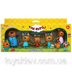 Ігровий набір «Три кота» 5 фігурок M-8811