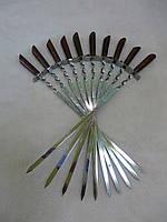 Шампуры качественные ручной работы, набор подарочный 10 штук., фото 1