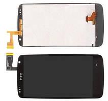 HTC Desire 500 дисплей в зборі з тачскріном модуль чорний