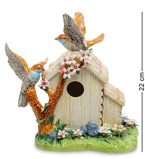"""Фигурка """"Домик с птичками"""" 23,5x14,5x22 см., фарфор Pavone, Италия"""