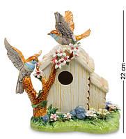 "Фигурка ""Домик с птичками"" 23,5x14,5x22 см., фарфор Pavone, Италия, фото 1"