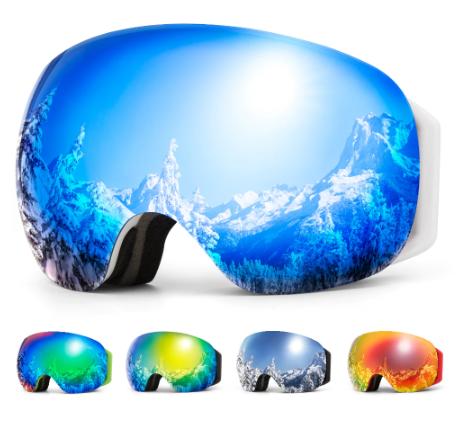 Гірськолижні / сноубордні окуляри (маска) COPOZZ GOG-2918 UV400, модель 2020 року - antifog