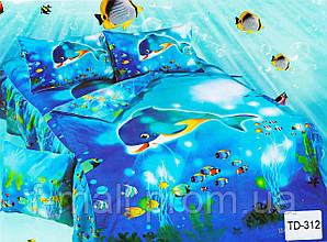 Комплект детского постельного белья ELWAY (Польша) 3D сатин полуторное (312)