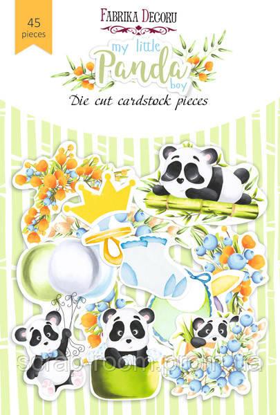 """Набор высечек, коллекция """"my little panda boy"""", 45шт для хобби и творчества Фабрика Декора"""
