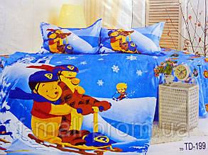 Комплект детского постельного белья ELWAY (Польша) 3D сатин полуторное (199)