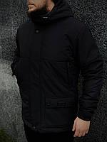 Парка мужская демисезонная с утеплителем до 0*С Waterproof Х Black