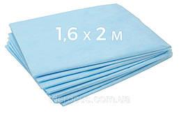 Одноразовая простынь для массажа 1,6х2м голубая 25 пл