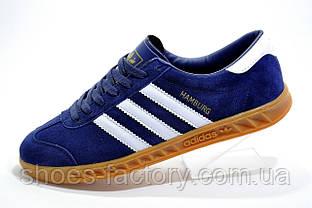 Кроссовки мужские в стиле Adidas Hamburg, Dark blue\Синие