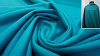 Ткань пальтовая кашемир бирюзового цвета