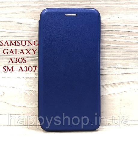 Чехол-книжка G-Case для Samsung Galaxy A30s (SM-A307) Синий, фото 2