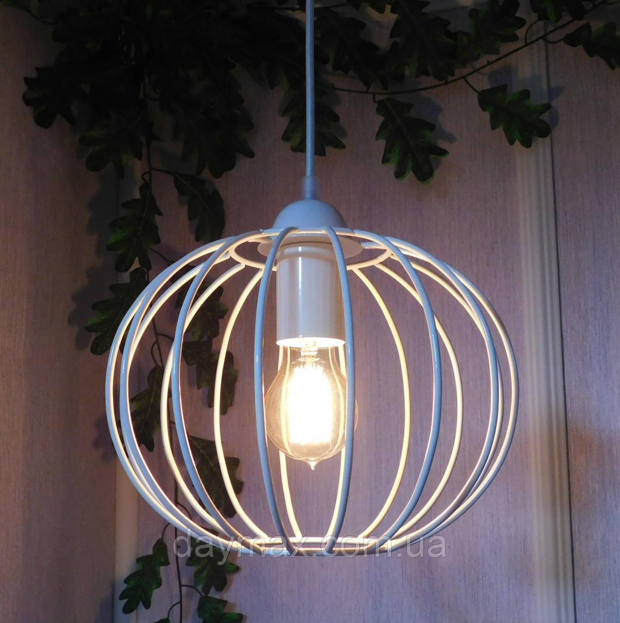 """Подвесной металлический светильник, современный стиль, loft, vintage, modern style """"ARC-W"""" Е27  белый цвет"""
