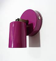 Настенный светильник, спот поворотный, потолочная лампа, на одну лампу, бордовый цвет, фото 1