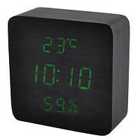 Часы сетевые VST 872S-4 Черные (KD-5959S216)