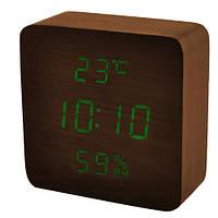 Часы сетевые VST 872S-4 Коричневые (KD-59591S216)