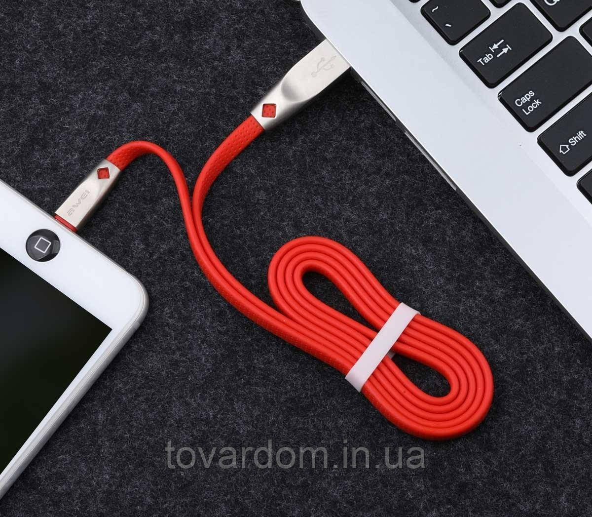 Кабель синхронизации USB Cable Awei CL-96 MicroUSB Black