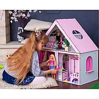 """Деревянный кукольный домик с мебелью и текстилем """"Особняк"""""""