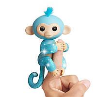 Інтерактивна мавпочка Амелія, WowWee Fingerlings Glitter Monkey - Amelia (Turquoise Blue Glitter)e