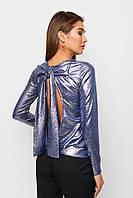 Нарядная женская блестящая кофточка с вырезом на спине, фото 1