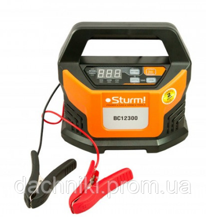 Интеллектуальное зарядно-пусковое устройство Sturm ( 12В, 18А, 2-400Ач), фото 2