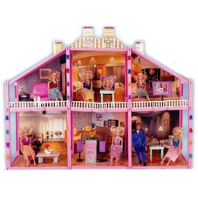 Домик для кукол Doll House 134 детали (6 комнат) арт.97