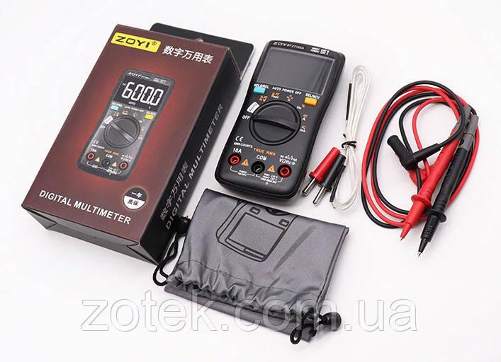 ZOYI ZT102A auto Захищений Мультиметр цифровий тестер з термопарою NCV ZOTEK (Richmeters RM102PRO AN113D)
