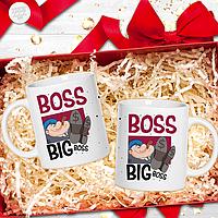 Чашка с прикольной надписью - boss big boss