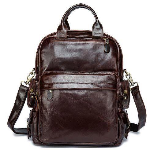 Рюкзак – трансформер кожаный из натуральной кожи в коричневом цвете Vintage 14889
