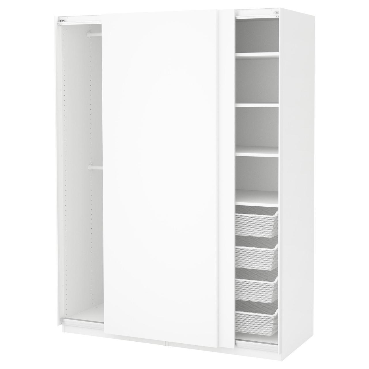 Гардероб IKEA PAX белый Хасвик белый 150x66x201 см 091.805.77