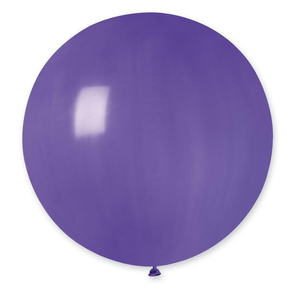 """Латексные шары круглые без рисунка И 27""""/08 пастель фиолетовый"""