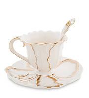 "Чайная пара ""Лилия"" 150 мл., 2 пр., фарфор Pavone, Италия"