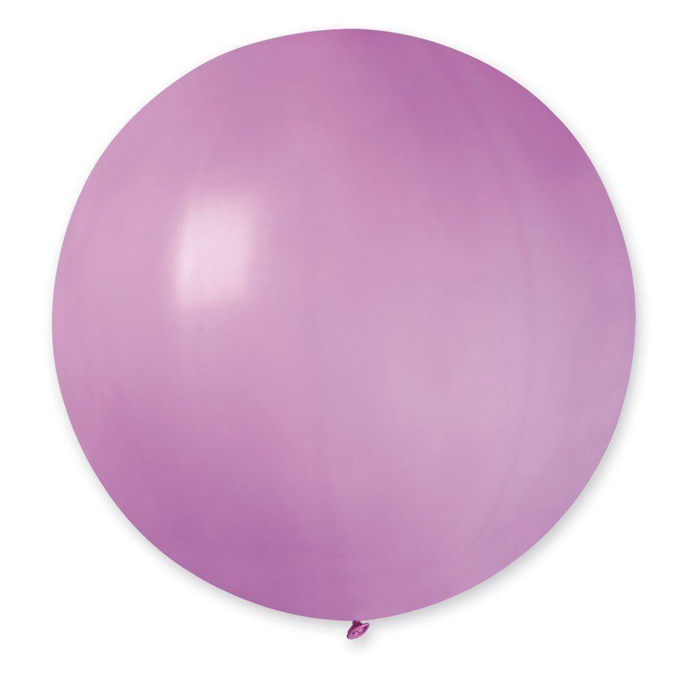 """Латексные шары круглые без рисунка И 27""""/06 пастель розовый"""
